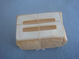 Mystery pack of Mother of Pearl Buckles in Original Brown Paper circa 1920s - 40s